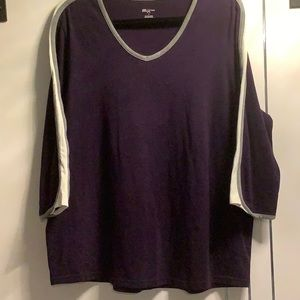 Plus Size 1X, SJBWoman Purple Teeshirt